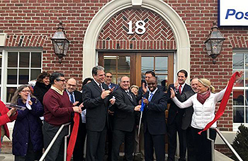RIbbon Cutting at the New Canaan Post Office